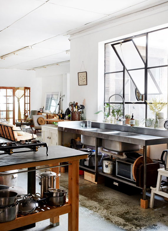 LOVE OR NOT: Industrial kitchens | Image by Sean Fennessy via The Design Files.