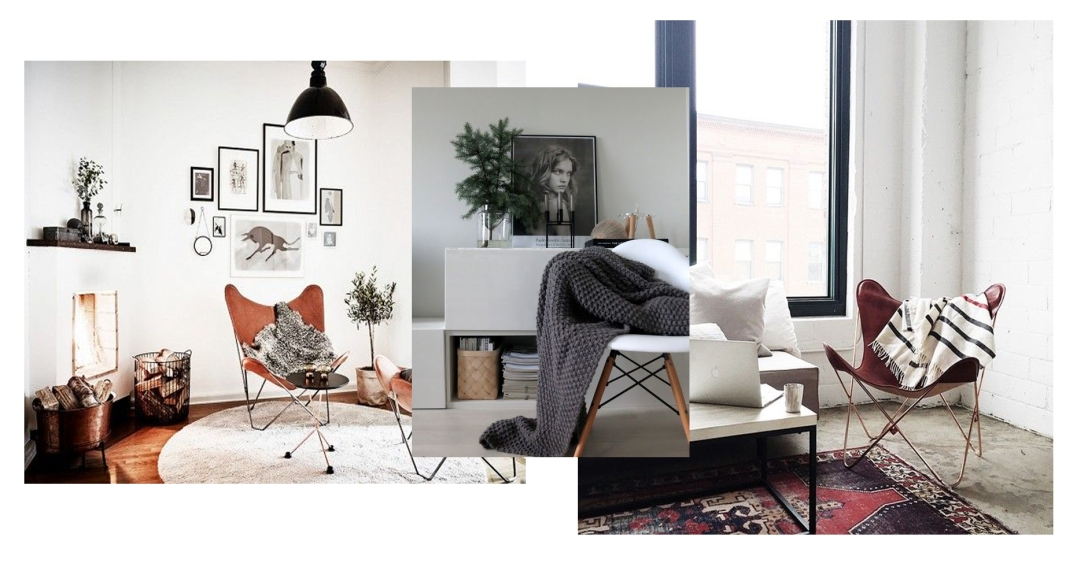 leather chairs + throws