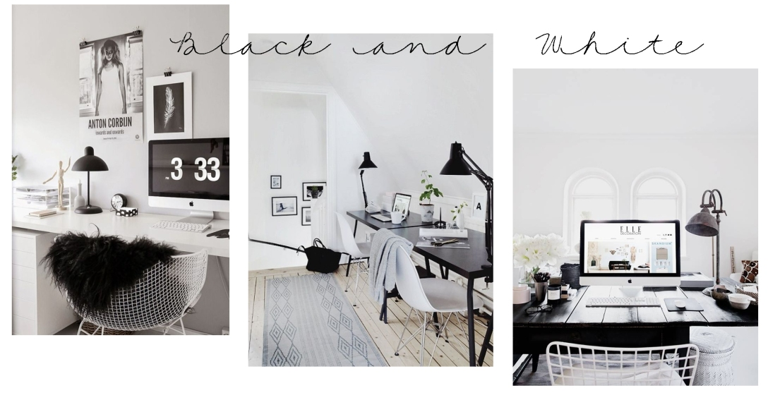 Work Space - Black and White