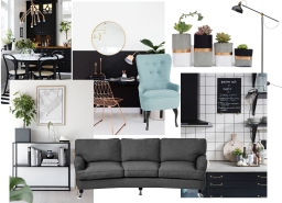 My Home: Living room/Dining Space/Kitchen Mood Board