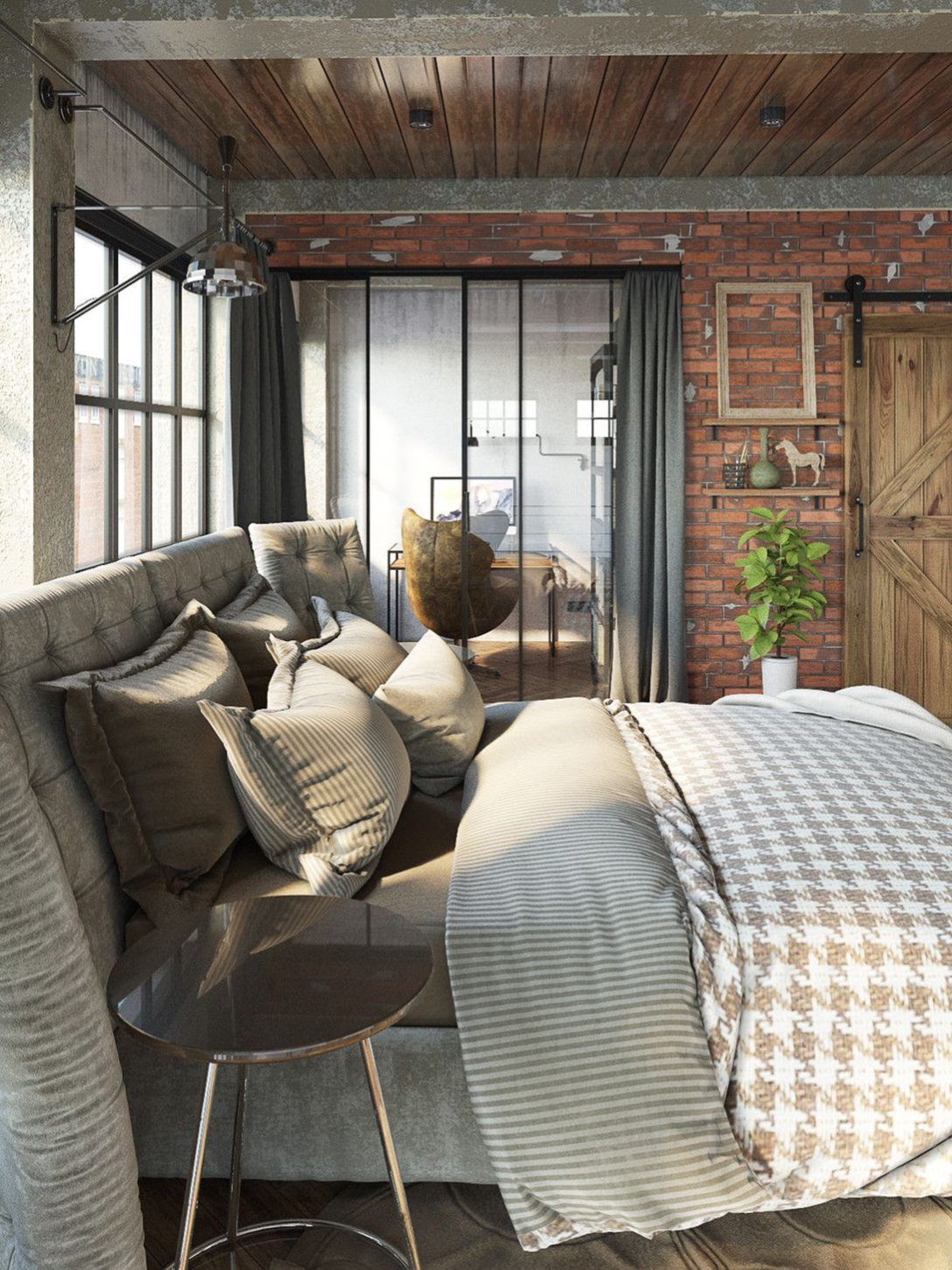 industrial-bedroom-private-area