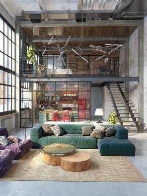 Resultado de imagem para loft house design